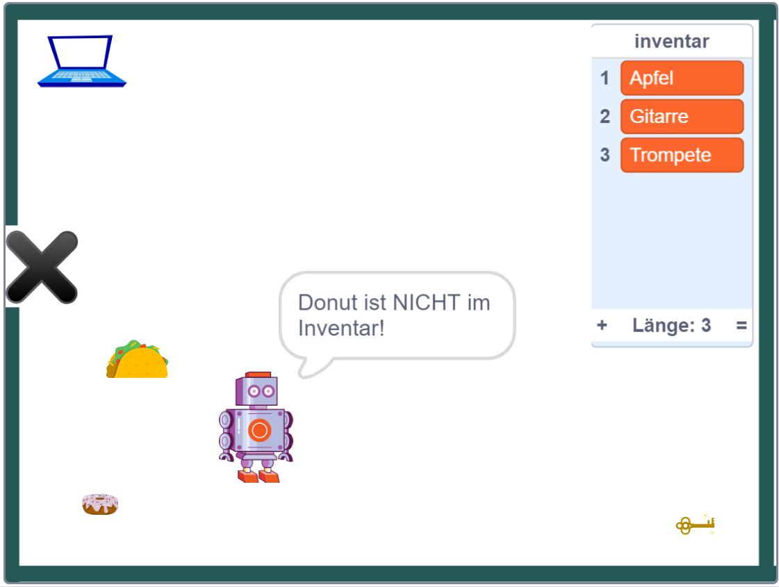 Scratch: Roboter-Szenario